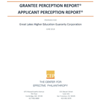 2018 Ascendium Grantee Perception Report