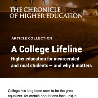 A College Lifeline Higher education for incarcerated and rural students