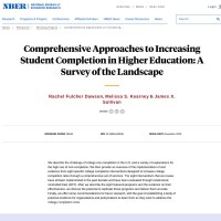 Comprehensive Approaches to Increasing Student Completion