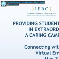 Providing Student Support Services in Extraordinary Times A Caring Campus Approach